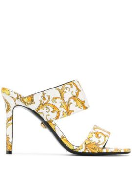 Barocco Print Strappy Sandals - Versace