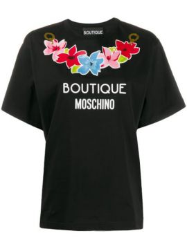 Printed Logo T-shirt - Boutique Moschino