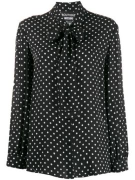 Polka Dot Blouse - Boutique Moschino