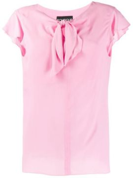 Knot Detail Blouse - Boutique Moschino