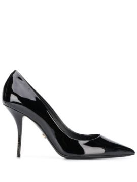 Polished Leather Pointed Pumps - Dolce & Gabbana