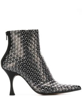 Ankle Boot Com Estampa - Mm6 Maison Margiela