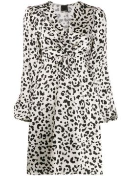 Animal Print Midi Dress - Pinko