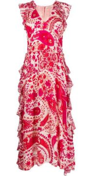 Abstract Floral-print Dress - Twin-set