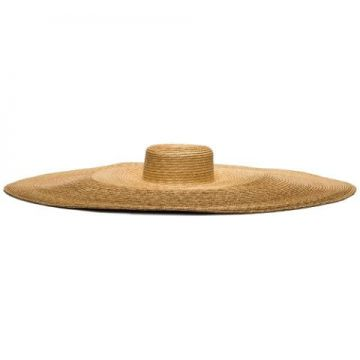 Neutral Le Grand Straw Hat - Eliurpi