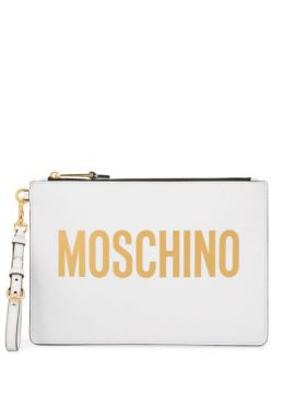 Logo Clutch Bag - Moschino