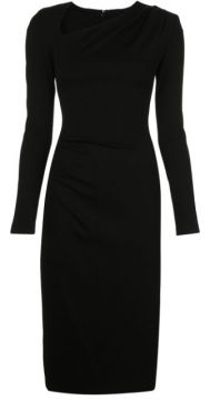 Fitted Ruched Midi Dress - Christian Siriano