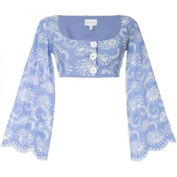 Blusa Cropped Cloud Obscurity - Alice Mccall