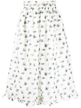 Cropped Wide Leg Trousers - Cecilie Bahnsen