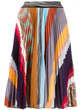 Saia Plissada Color Block - Missoni