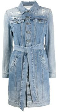 Distressed Denim Shirt Dress - Givenchy