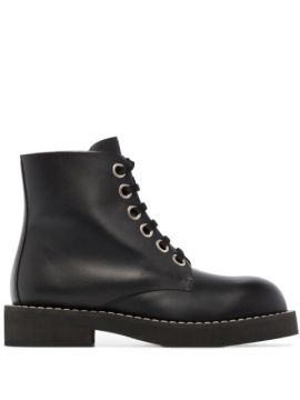 Lace-up Leather Boots - Marni