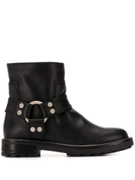 Harness Ring Logo Embossed Boots - Diesel