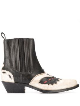 Sunset Flower Ankle Boots - Golden Goose