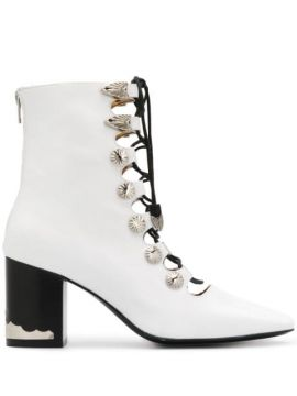Lace-up Ankle Boots - Toga Pulla