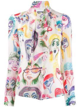 Doodle Print Blouse - Moschino