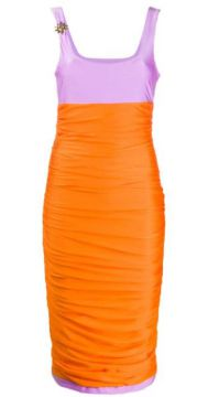 Colour Block Ruched Dress - Fausto Puglisi