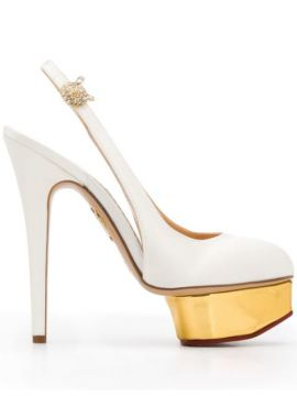 Dolly Satin Slingback Pumps - Charlotte Olympia