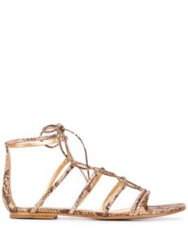 Snake-effect Sandals - Gianvito Rossi