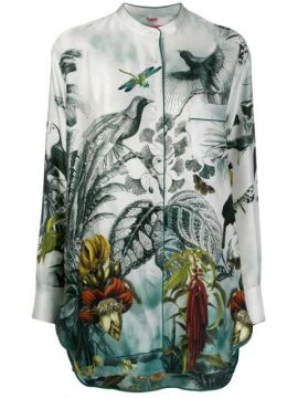 Silk Tropical-print Blouse - F.r.s For Restless Sleepers