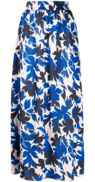 Floral Print Skirt - Boutique Moschino
