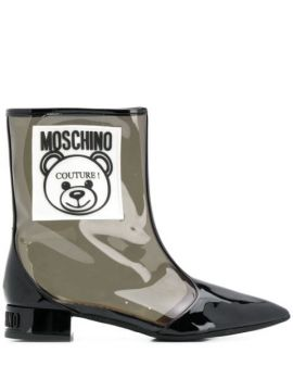 Ankle Boot Teddy Bear Translúcida - Moschino