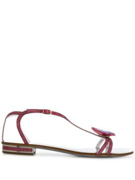 Butterfly Embellished Sandals - Casadei