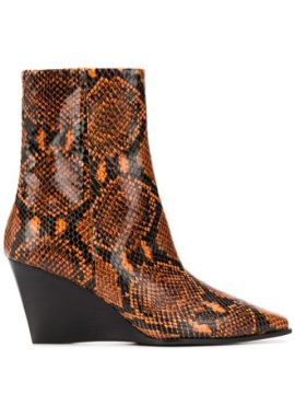 Snake Print Boots - Aeyde