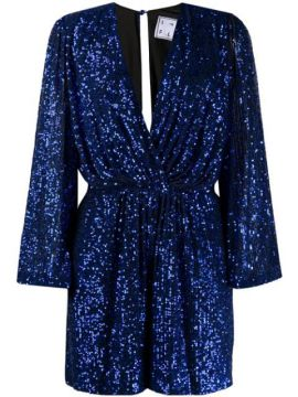 Bree Plunge-neck Sequin Playsuit - In The Mood For Love