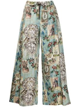 Silk Printed Trousers - F.r.s For Restless Sleepers