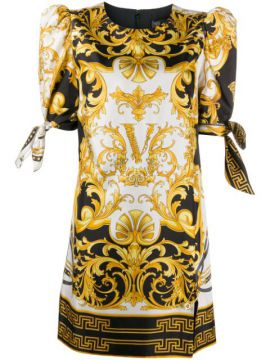 V Barocco Print Short Dress - Versace
