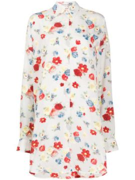 Floral-print Silk Shirt Dress - Ermanno Scervino