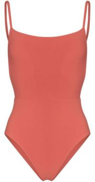 Open-back Strappy Swimsuit - Anemone
