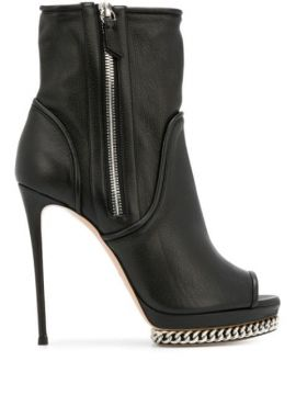 Open Toe Ankle Boots - Casadei