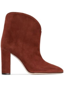 100mm Suede Ankle Boots - Paris Texas