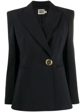 Fitted Logo-button Blazer - Fausto Puglisi