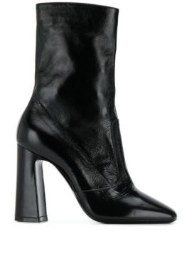 Square Toe 100mm Ankle Boot - Saint Laurent