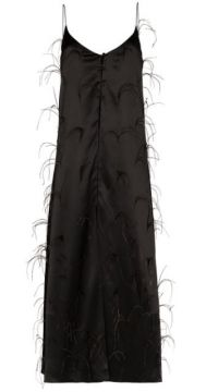 Long Ostrich Feather Camisole Top - Michael Lo Sordo
