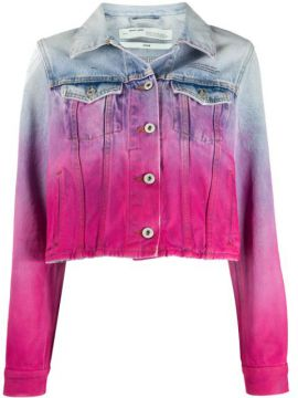 Spray Paint-effect Denim Jacket - Off-white