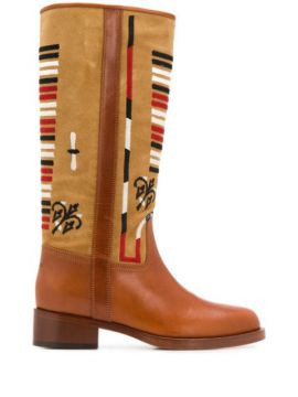 Embroidered Knee-high Boots - Etro