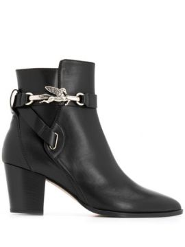 Pointed Toe Branded Ankle Boots - Etro