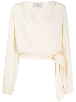 Relaxed-fit Wrap Blouse - Forte Forte