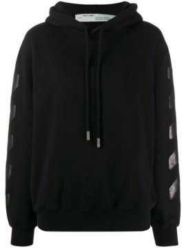 Diag Oversized Hoodie - Off-white