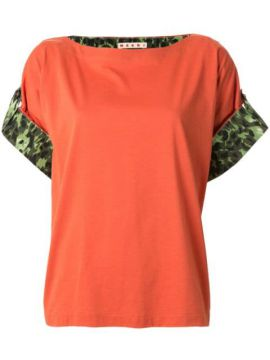 Camouflage Cuffs Shift Blouse - Marni