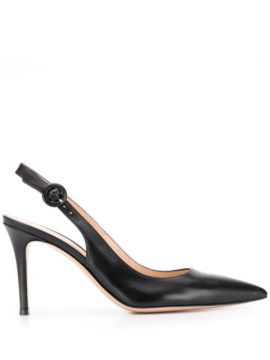 Slingback Pointed Toe Pumps - Gianvito Rossi