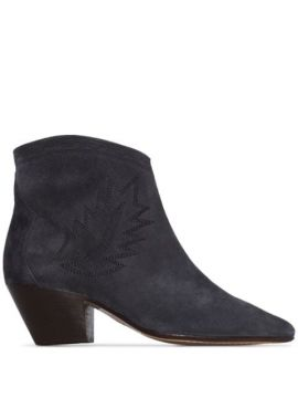 Ankle Boot Dacken Com Bordado E Salto 50mm - Isabel Marant