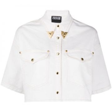 Cropped Denim Shirt - Versace Jeans Couture