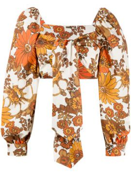 Floral-print Cropped Top - Dodo Bar Or