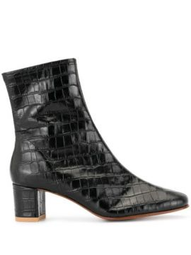 Sofia Croc-effect Ankle Boots - By Far