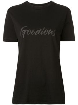 Camiseta Decote Careca Com Estampa De Logo - Goodious